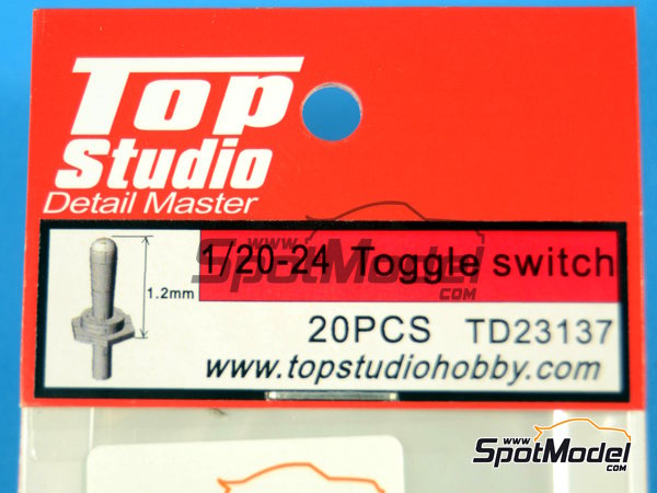 Image 4: Toggle switch | Detail in 1/20 scale manufactured by Top Studio (ref. TD23137)