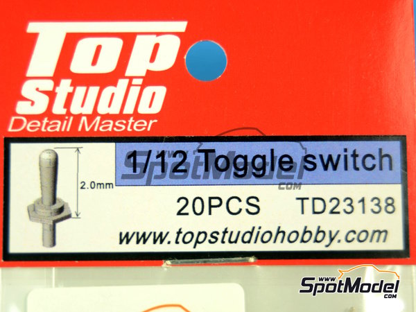 Image 4: Toggle switch | Detail in 1/12 scale manufactured by Top Studio (ref.TD23138)