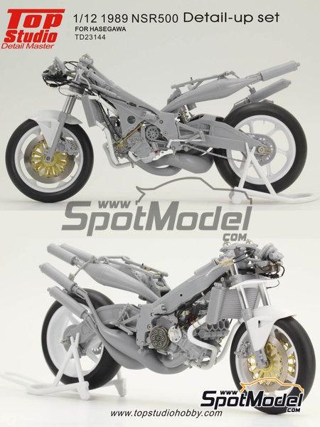 Honda NSR500 - Campeonato del Mundo de Motociclismo 1989 | Set de mejora y detallado en escala1/12 fabricado por Top Studio (ref.TD23144) image