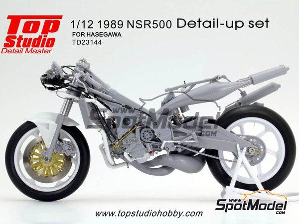 Image 1: Honda NSR500 - Campeonato del Mundo de Motociclismo 1989 | Set de mejora y detallado en escala1/12 fabricado por Top Studio (ref.TD23144)