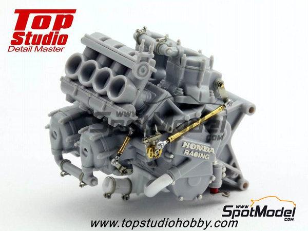 Image 2: Honda NSR500 - Campeonato del Mundo de Motociclismo 1989   Set de mejora y detallado en escala1/12 fabricado por Top Studio (ref.TD23144)