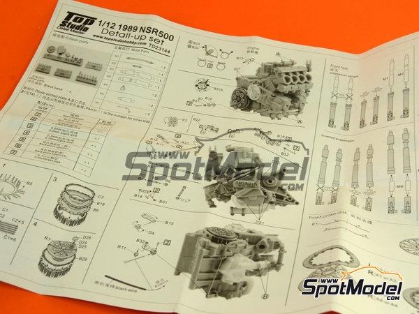 Image 20: Honda NSR500 - Campeonato del Mundo de Motociclismo 1989   Set de mejora y detallado en escala1/12 fabricado por Top Studio (ref.TD23144)