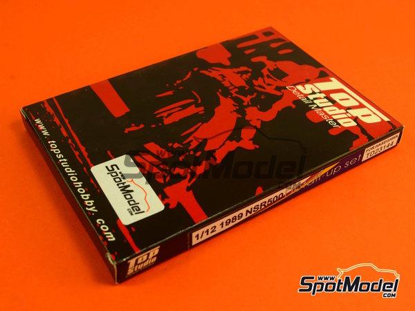 Image 21: Honda NSR500 - Campeonato del Mundo de Motociclismo 1989   Set de mejora y detallado en escala1/12 fabricado por Top Studio (ref.TD23144)