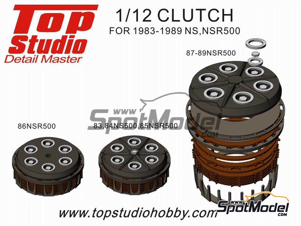 Image 1: Honda NS500 / NSR500 -  1983 - 1989 | Clutch in 1/12 scale manufactured by Top Studio (ref. TD23146)