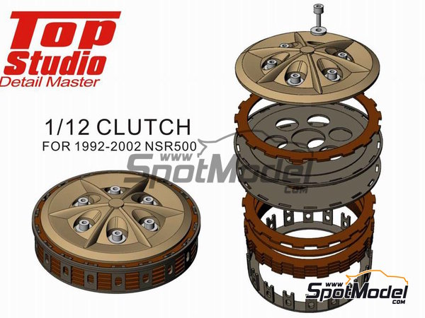 Image 4: Honda NSR500 -  1992, 1993, 1994, 1995, 1996, 1997, 1998, 1999, 2000, 2001 and 2002 | Clutch in 1/12 scale manufactured by Top Studio (ref. TD23147)