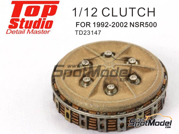 Image 5: Honda NSR500 -  1992, 1993, 1994, 1995, 1996, 1997, 1998, 1999, 2000, 2001 and 2002 | Clutch in 1/12 scale manufactured by Top Studio (ref. TD23147)