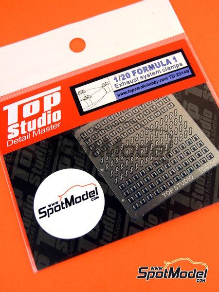 Sujeciones para tubos de escape | Detalle en escala1/20 fabricado por Top Studio (ref.TD23149) image