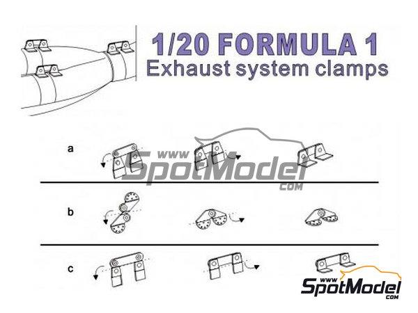 Image 1: Sujeciones para tubos de escape | Detalle en escala1/20 fabricado por Top Studio (ref.TD23149)