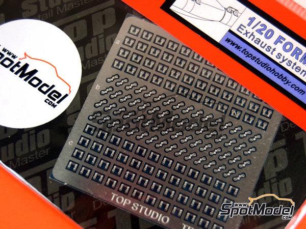 Image 2: Sujeciones para tubos de escape | Detalle en escala1/20 fabricado por Top Studio (ref.TD23149)