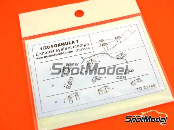 Image 5: Sujeciones para tubos de escape | Detalle en escala1/20 fabricado por Top Studio (ref.TD23149)