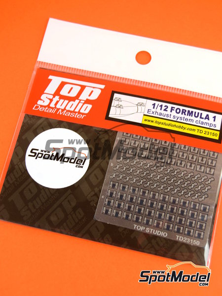Exhaust clamps | Detail in 1/12 scale manufactured by Top Studio (ref.TD23150) image