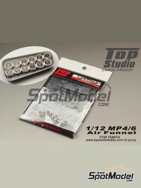 McLaren Honda MP4/6 | Trompetas de admisión en escala1/12 fabricado por Top Studio (ref.TD23152) image