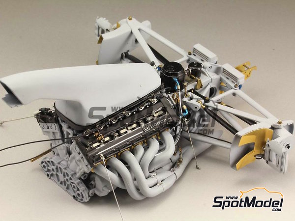 Image 11: McLaren Honda MP4/6   Detail up set in 1/12 scale manufactured by Top Studio (ref.TD23160)