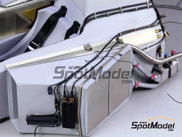 Image 4: McLaren Honda MP4/6 | Set de mejora y detallado en escala1/12 fabricado por Top Studio (ref.TD23161)