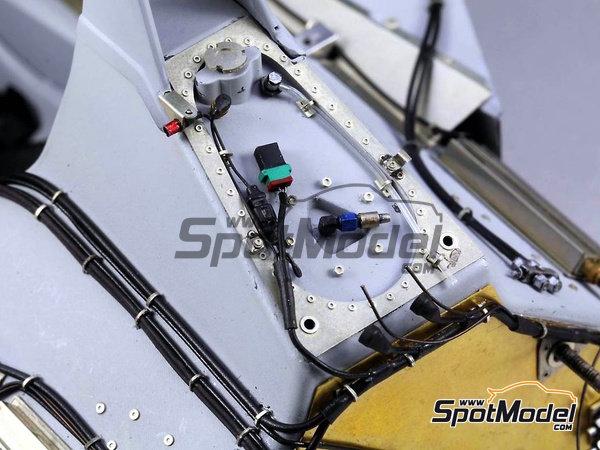 Image 5: McLaren Honda MP4/6 | Set de mejora y detallado en escala1/12 fabricado por Top Studio (ref.TD23161)