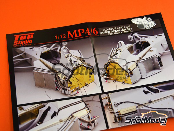 Image 10: McLaren Honda MP4/6 | Set de mejora y detallado en escala1/12 fabricado por Top Studio (ref.TD23161)