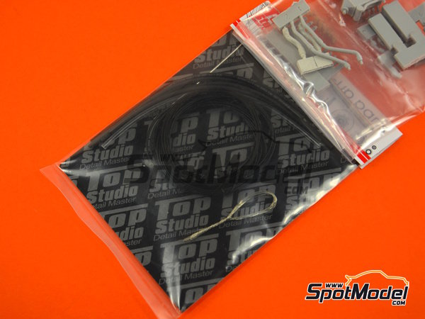 Image 14: McLaren Honda MP4/6 | Set de mejora y detallado en escala1/12 fabricado por Top Studio (ref.TD23161)