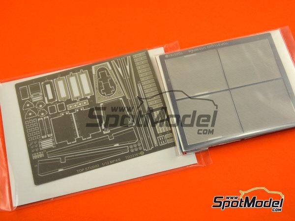Image 18: McLaren Honda MP4/6 | Set de mejora y detallado en escala1/12 fabricado por Top Studio (ref.TD23161)