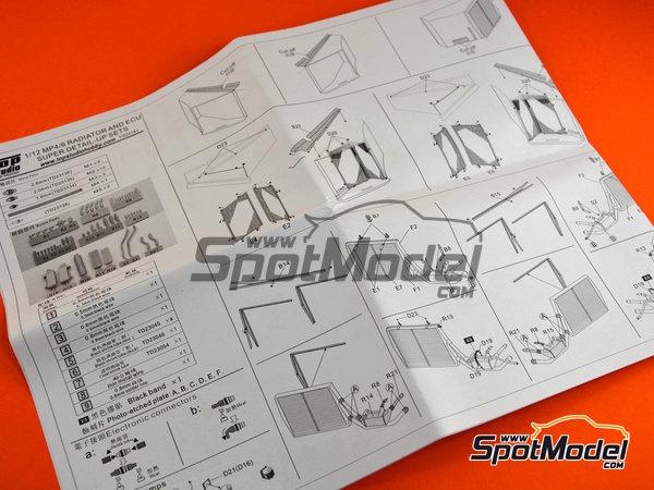 Image 20: McLaren Honda MP4/6 | Set de mejora y detallado en escala1/12 fabricado por Top Studio (ref.TD23161)