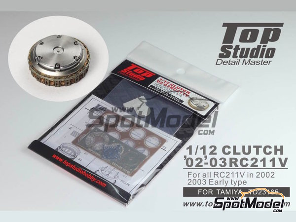 Image 1: Honda RC211V -  2002 y 2003 | Embrague en escala 1/12 fabricado por Top Studio (ref. TD23165)