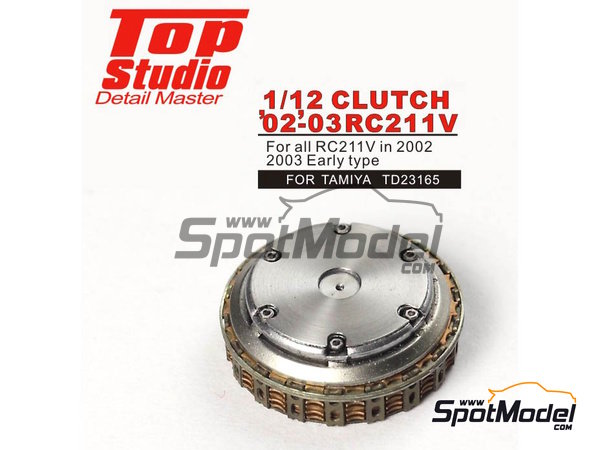 Image 2: Honda RC211V -  2002 and 2003 | Clutch in 1/12 scale manufactured by Top Studio (ref. TD23165)