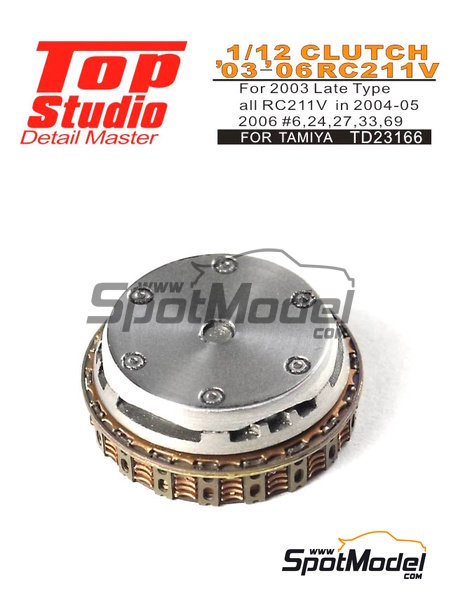 Honda RC211V -  2003, 2004, 2005 and 2006 | Clutch in 1/12 scale manufactured by Top Studio (ref. TD23166) image