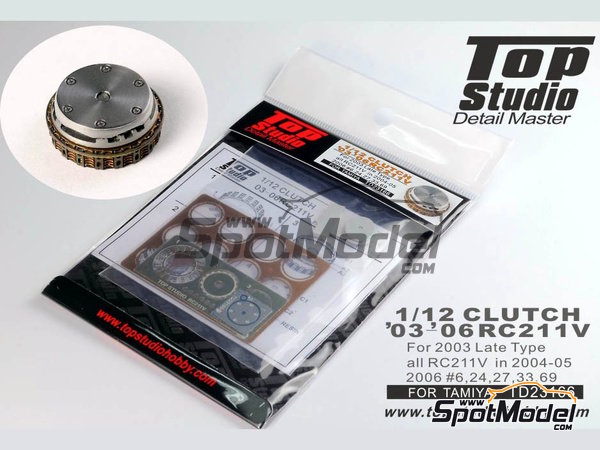 Image 1: Honda RC211V -  2003, 2004, 2005 y 2006 | Embrague en escala 1/12 fabricado por Top Studio (ref. TD23166)