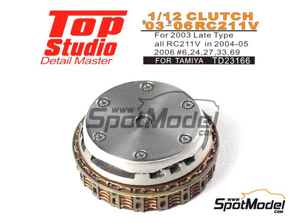 Image 2: Honda RC211V -  2003, 2004, 2005 and 2006 | Clutch in 1/12 scale manufactured by Top Studio (ref. TD23166)