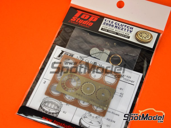 Image 3: Honda RC211V -  2006 | Clutch in 1/12 scale manufactured by Top Studio (ref. TD23167)