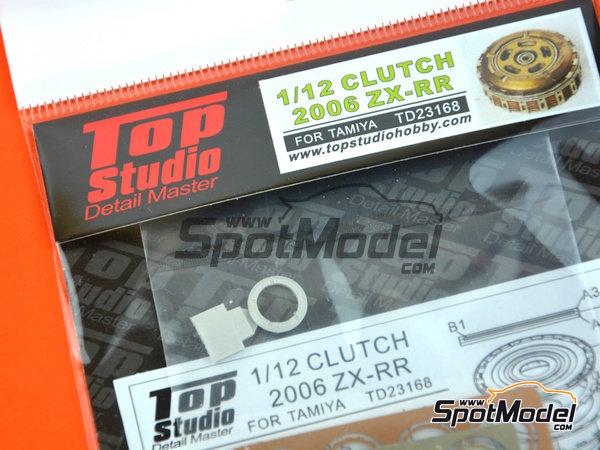 Image 1: Kawasaki Ninja ZX-RR -  2006 | Embrague en escala1/12 fabricado por Top Studio (ref.TD23168)