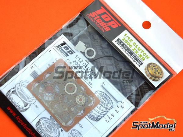 Image 3: Kawasaki Ninja ZX-RR -  2006 | Embrague en escala1/12 fabricado por Top Studio (ref.TD23168)