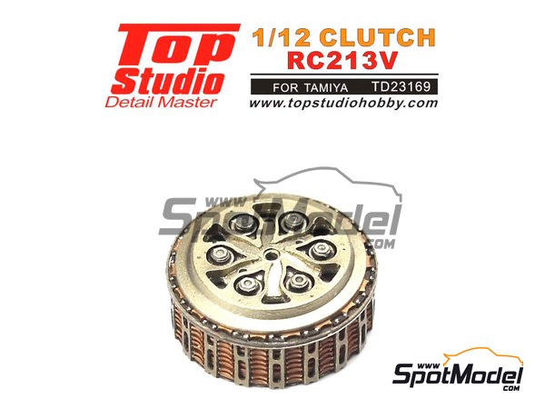 Image 1: Honda RC213V | Clutch in 1/12 scale manufactured by Top Studio (ref. TD23169)