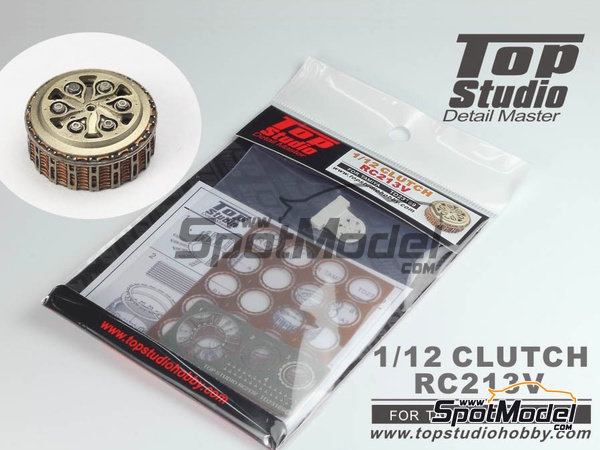 Image 2: Honda RC213V | Clutch in 1/12 scale manufactured by Top Studio (ref. TD23169)