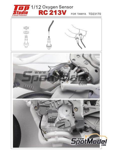 Honda RC213V | Oxygen sensor in 1/12 scale manufactured by Top Studio (ref.TD23170) image