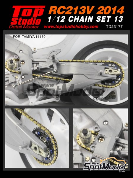 Honda RC213V -  2014 | Chain set in 1/12 scale manufactured by Top Studio (ref.TD23177) image