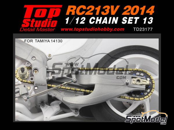 Image 1: Honda RC213V -  2014 | Chain set in 1/12 scale manufactured by Top Studio (ref.TD23177)