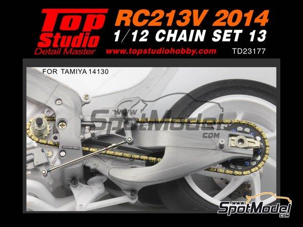 Image 1: Honda RC213V -  2014 | Cadena en escala1/12 fabricado por Top Studio (ref.TD23177)