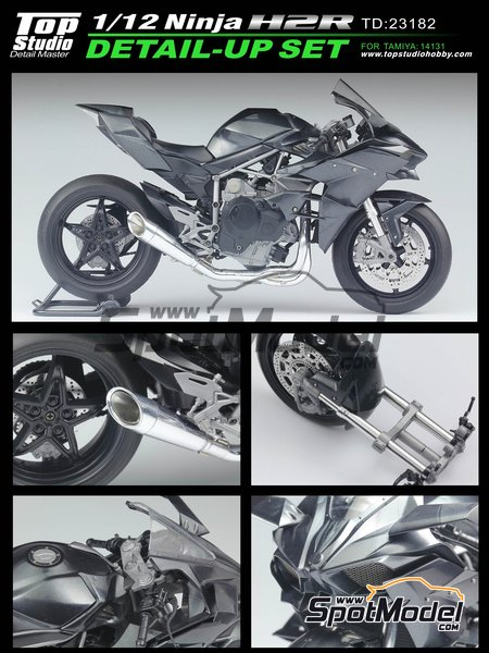 Kawasaki Ninja H2R | Detail up set in 1/12 scale manufactured by Top Studio (ref. TD23182) image