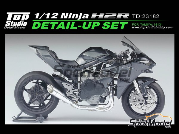 Image 1: Kawasaki Ninja H2R | Detail up set in 1/12 scale manufactured by Top Studio (ref. TD23182)