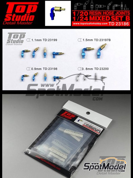 Hose joints mix | Hose joints in 1/20 scale manufactured by Top Studio (ref.TD23186) image