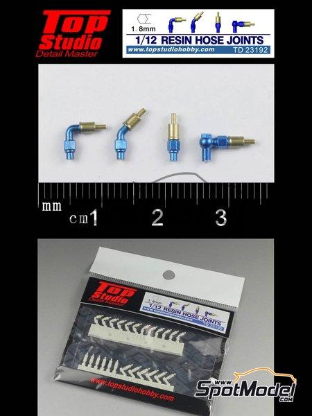 Rácores de 1.8mm | Rácores en escala1/12 fabricado por Top Studio (ref.TD23192) image