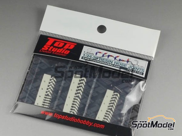 Image 2: Hose joints 1.2mm | Hose joints in 1/20 scale manufactured by Top Studio (ref. TD23195)