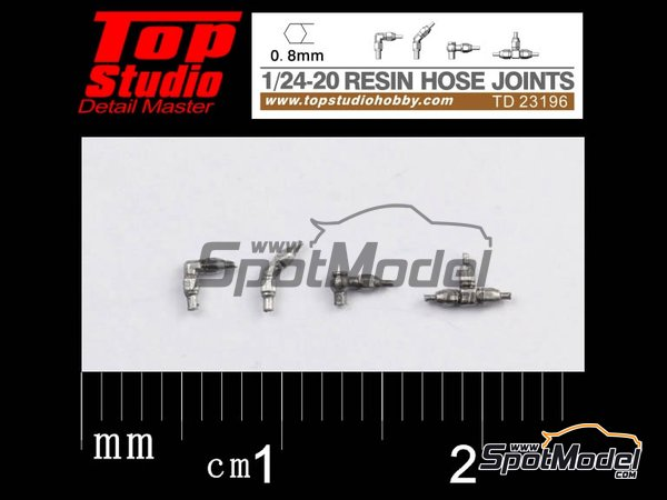 Image 1: Hose joints 0.8mm | Hose joints in 1/20 scale manufactured by Top Studio (ref. TD23196)