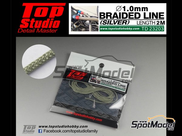 Image 1: Cable trenzado de 1.0mm | Tubo fabricado por Top Studio (ref.TD23203)