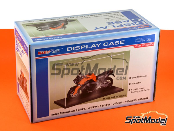 Image 3: Display case for 1/12 scale bikes | Display case in 1/12 scale manufactured by Trumpeter (ref. 09804)