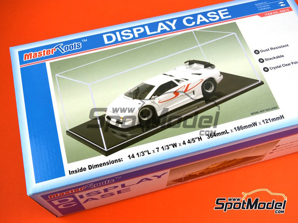 Image 1: Display case for 1/20 and 1/18 scale cars | Display case in 1/20 scale manufactured by Trumpeter (ref. 09815)