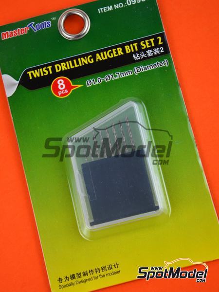 Twist drilling auger bit set 2 - 1.0mm to 1.7mm | Drill bit manufactured by Trumpeter (ref.09955) image