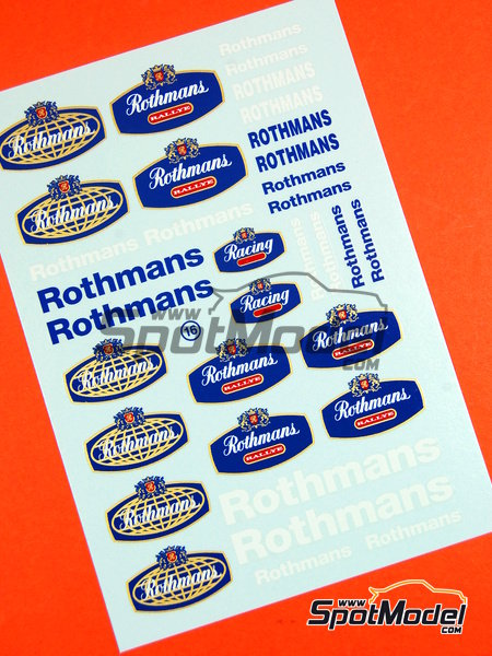 Rothmans | Logotypes in 1/24 scale manufactured by Virages (ref. VIR-016) image