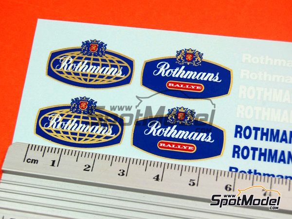 Image 4: Rothmans | Logotypes in 1/24 scale manufactured by Virages (ref. VIR-016)