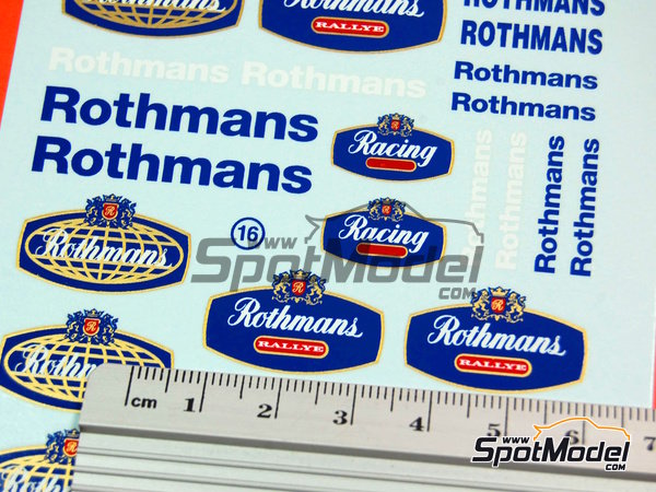 Image 6: Rothmans | Logotypes in 1/24 scale manufactured by Virages (ref. VIR-016)